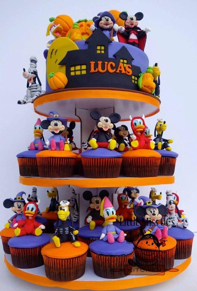 Disney Halloween Cupcake Tower