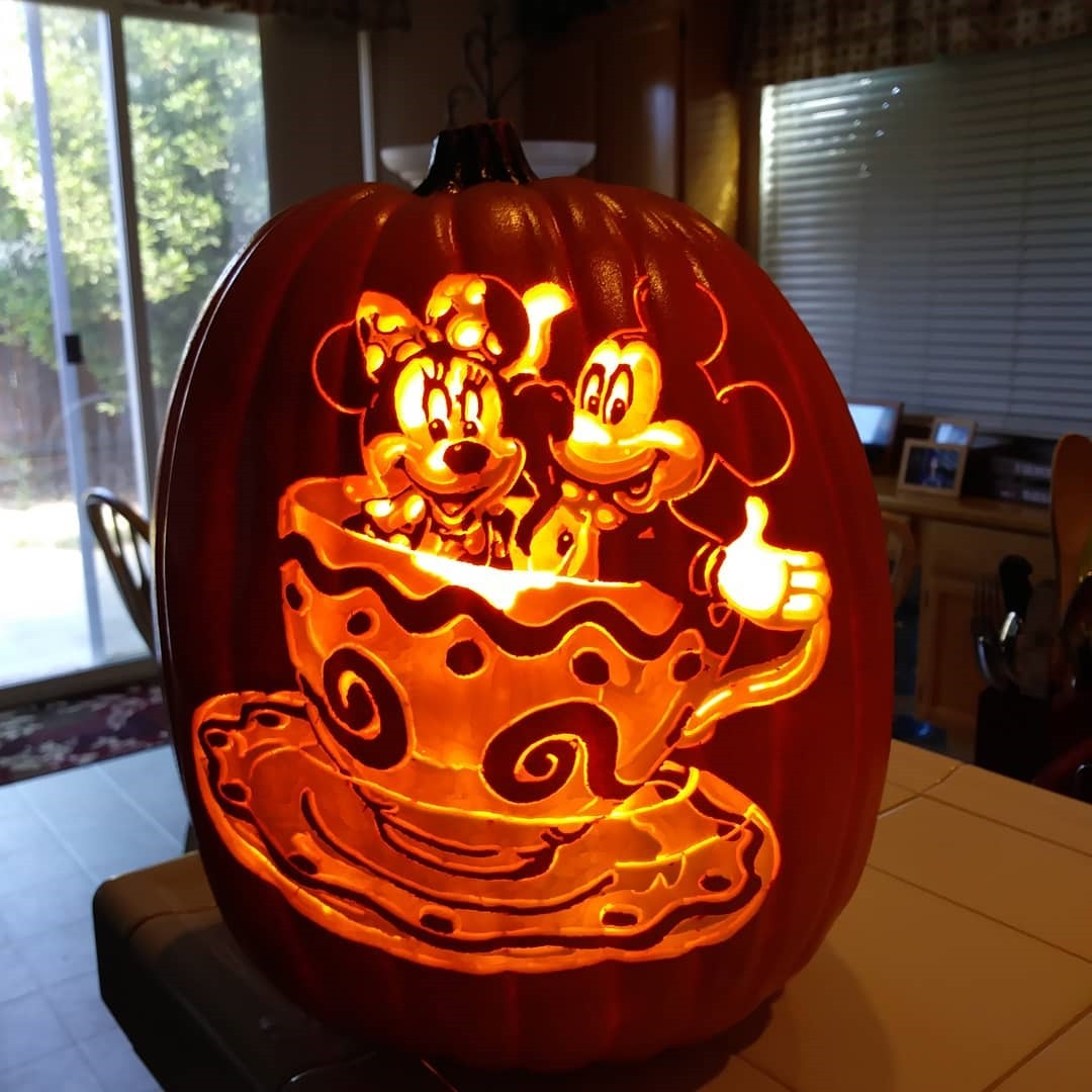 Mickey and Minnie Mouse Pumpkin