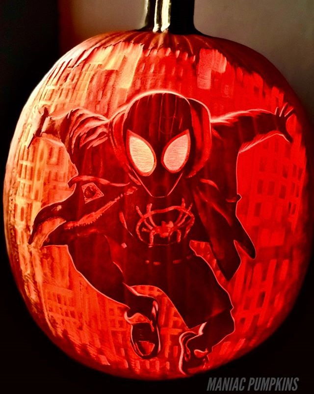 Miles Morales Spider-Man Pumpkin