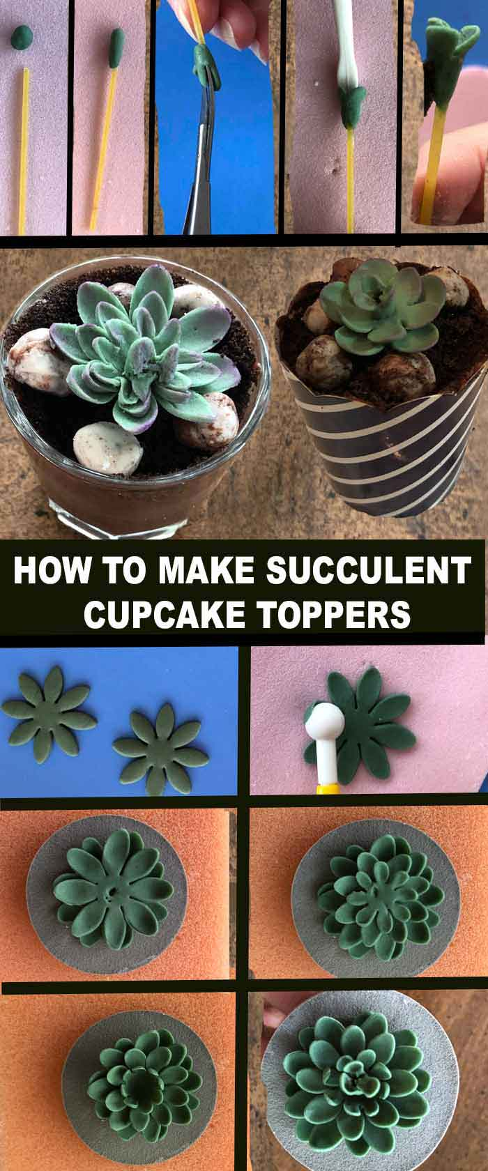 Succulent Cupcake Tutorial