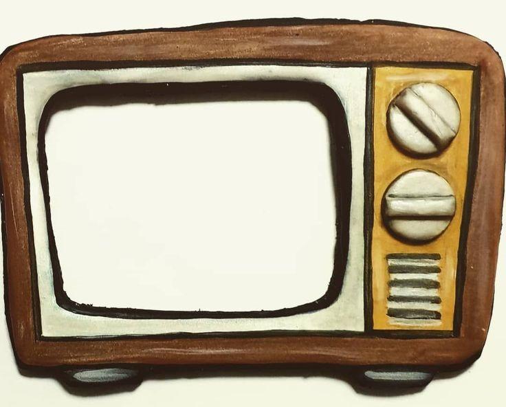 Vintage Television Cookie