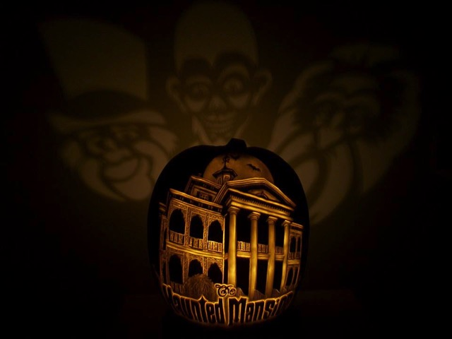 Disney Haunted Mansion Pumpkin Carving
