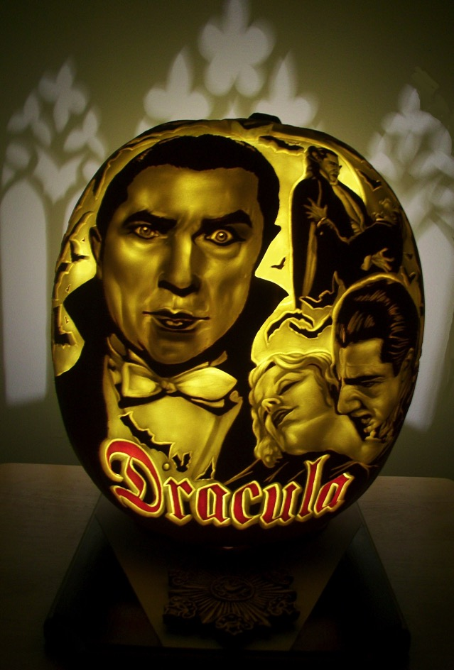 Dracula Carved Pumpkin