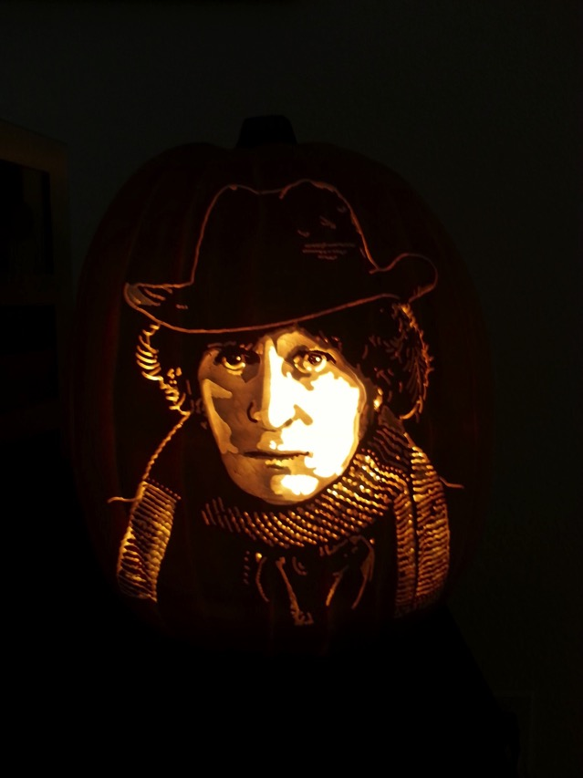 Awesome Tom Baker Doctor Who Pumpkin Carving Between The Pages Blog