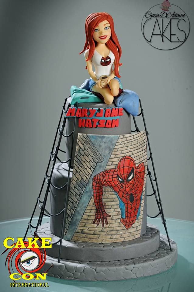 Mary Jane Watson and Spider-Man Cake
