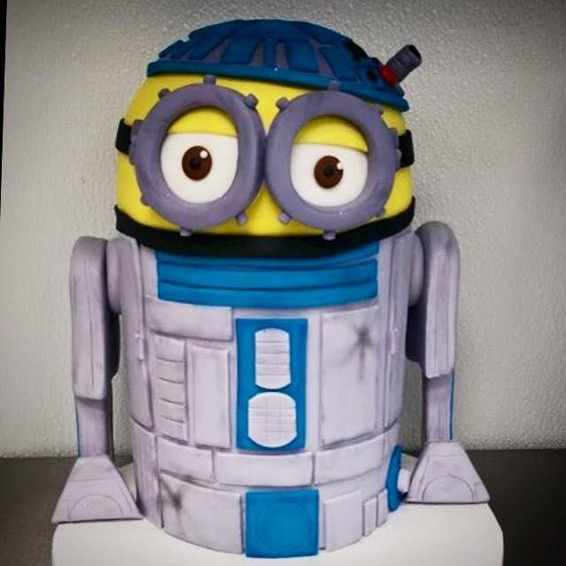 R2 D2 Minion Cake