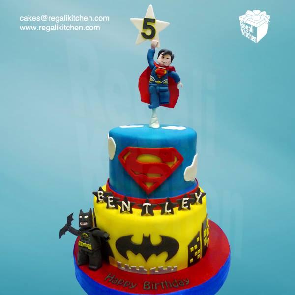 LEGO Batman v Superman Cake