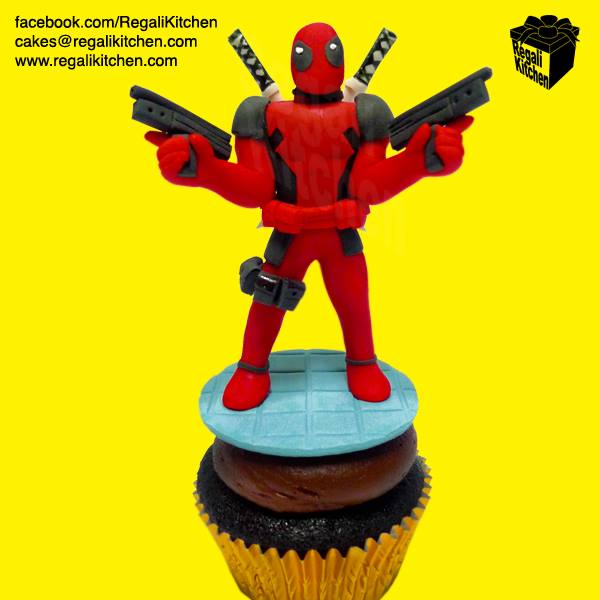 Deadpool cupcake