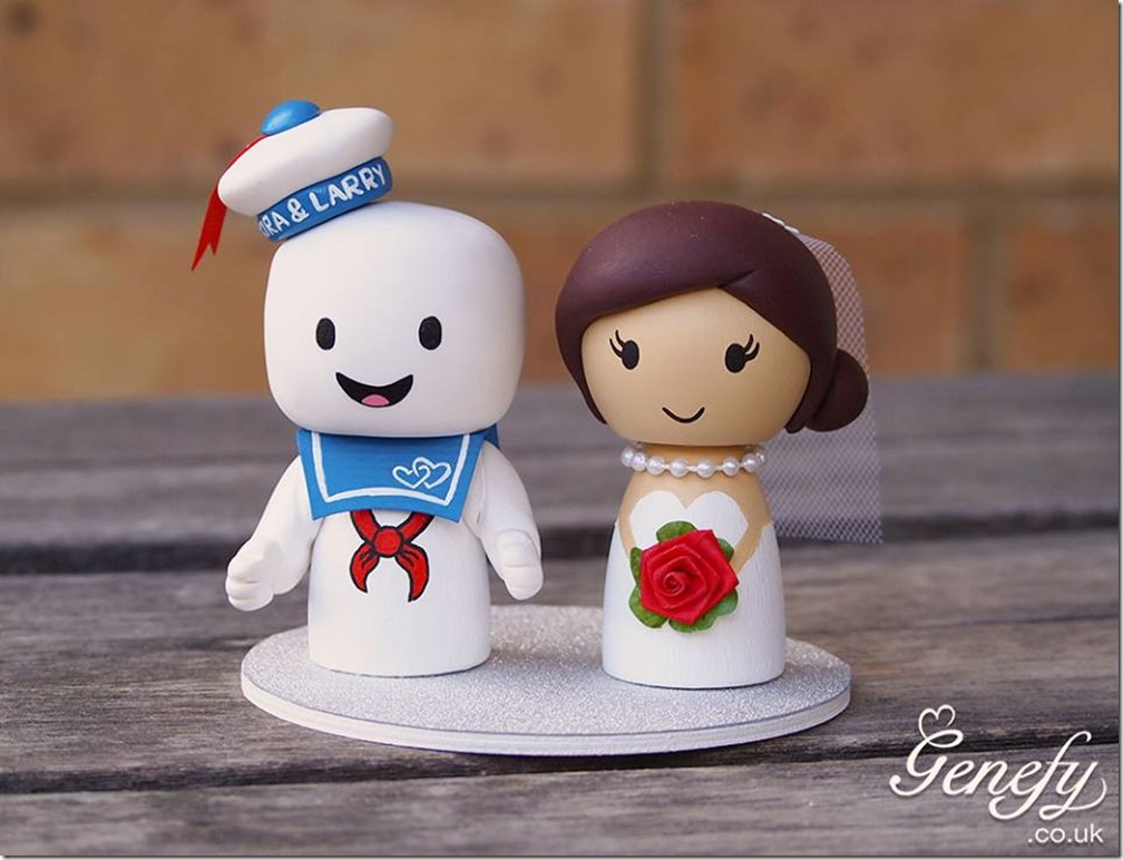 Stay Puft Marshmallow Man Wedding Cake Topper