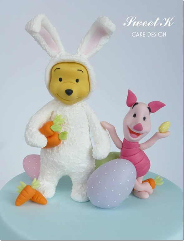 Winnie the Pooh / Easter Bunny Cake Topper