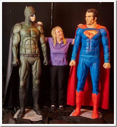 Life Size Batman v Superman Cakes