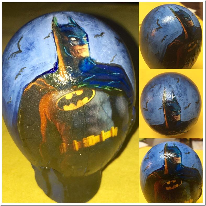 Hand Painted Batman Easter Egg
