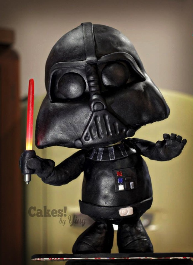 Chibi Darth Vader Cake