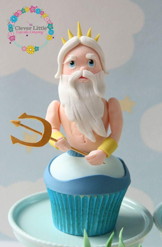 King Triton Cupcake