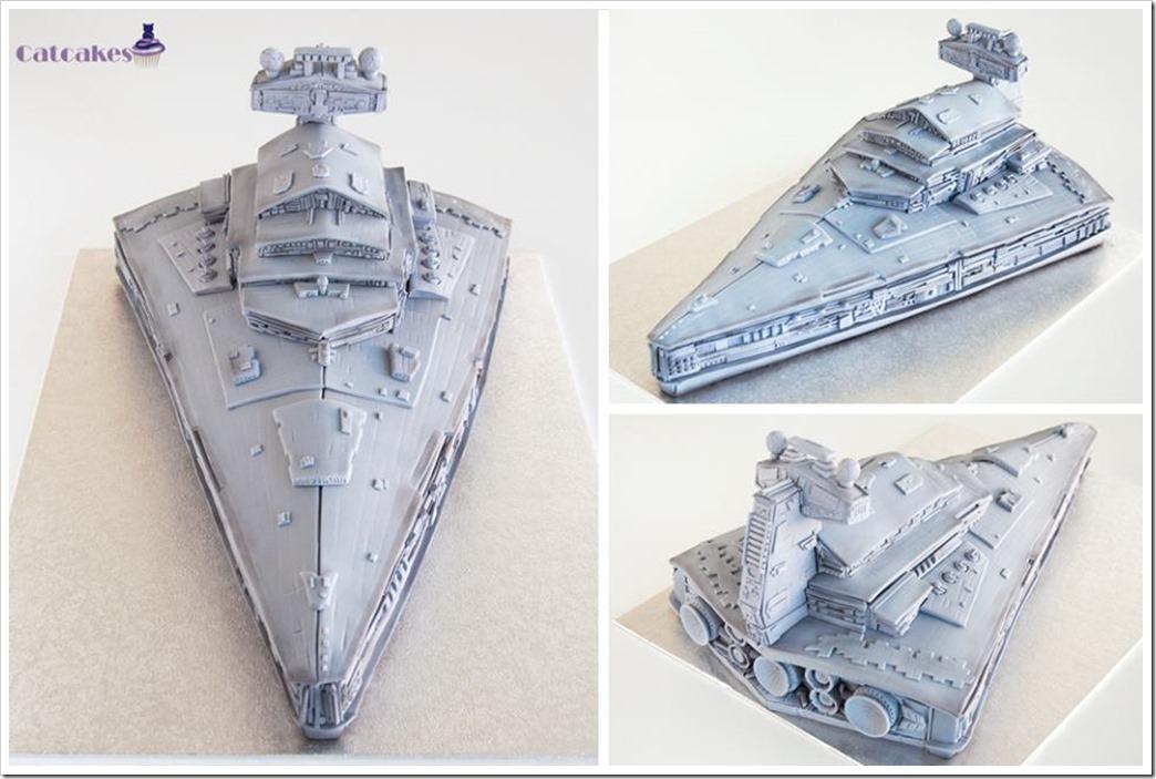 Star Destroyer Cake