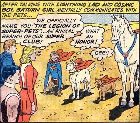 Legion of Super-Pets Are Named