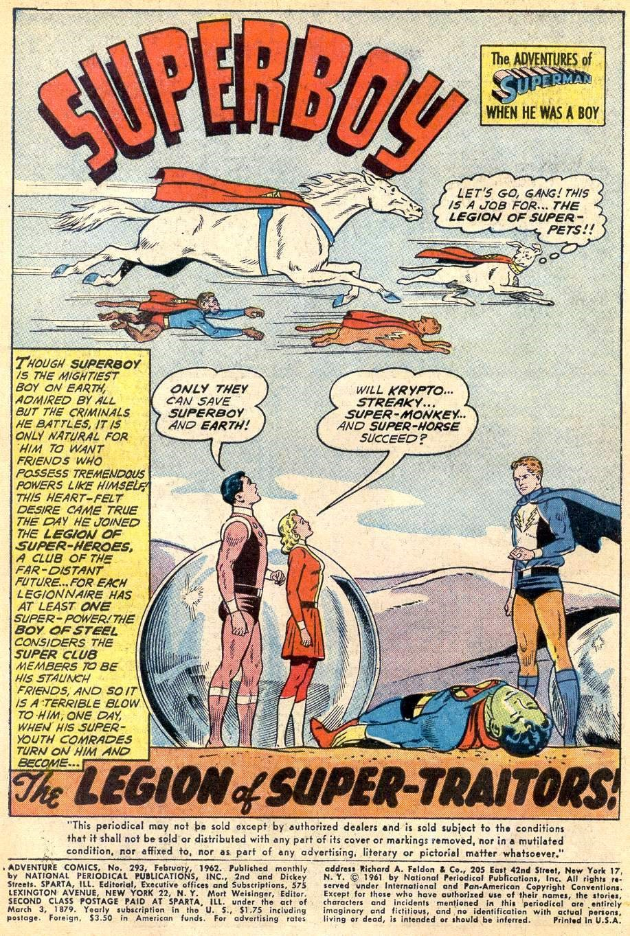 First Appearance of The Legion of Super-Pets