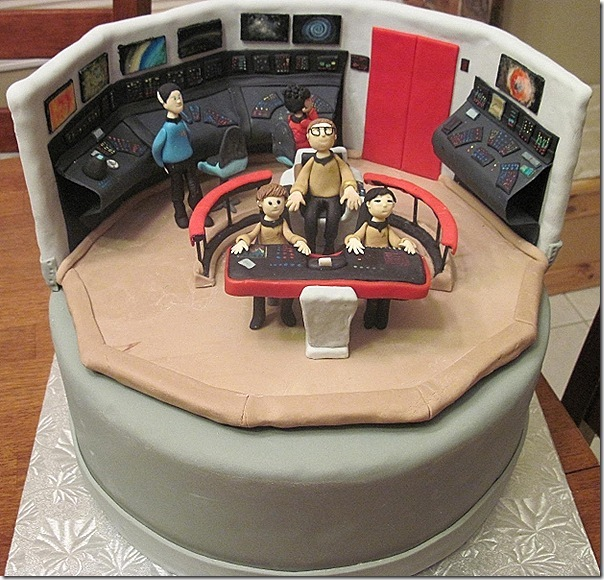 Star Trek Grooms Cake