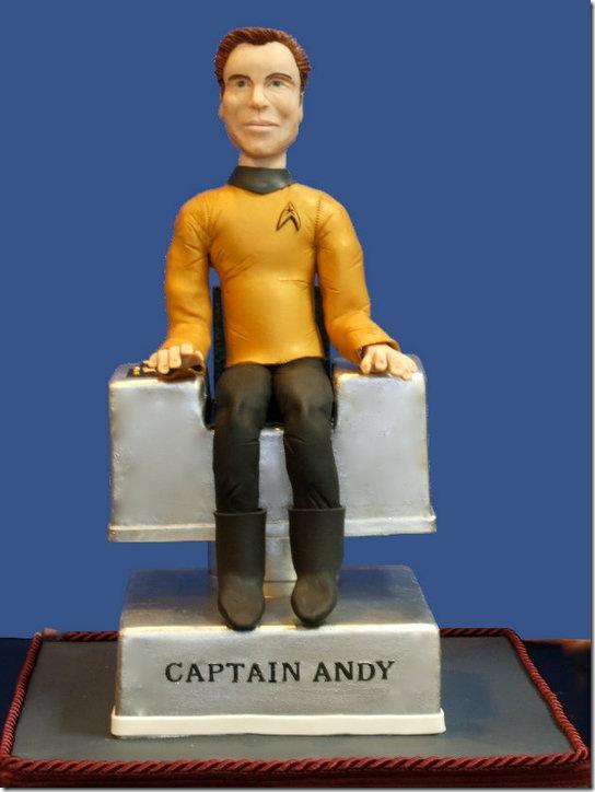 Captain Kirk Birthday Cake