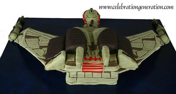 Klingon Bird of Prey Cake