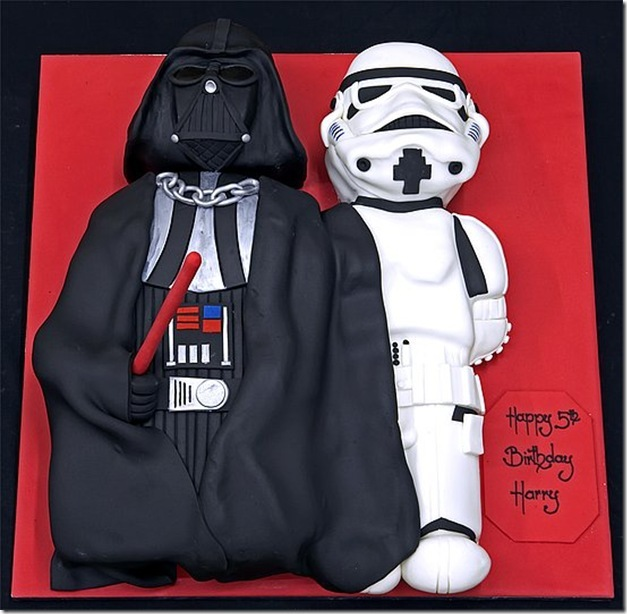 Darth Vader & Storm Trooper Cake