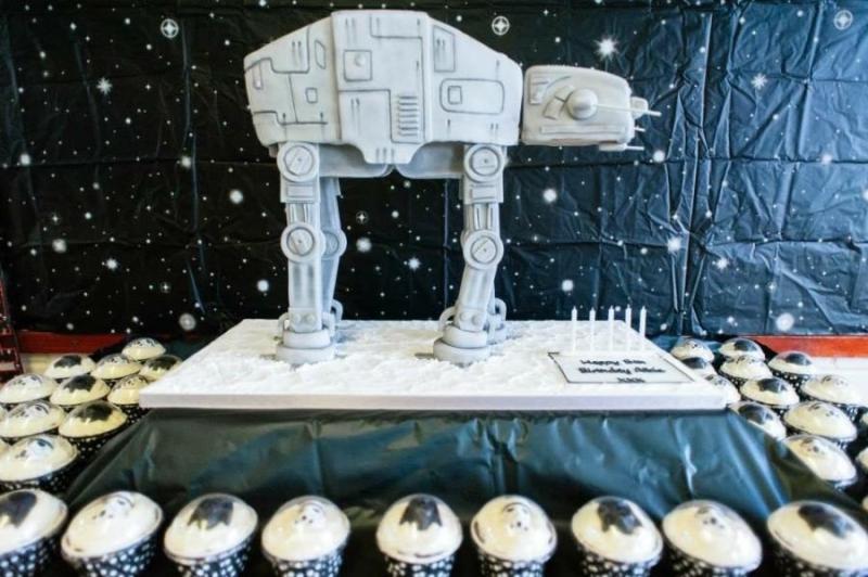 AT-AT Birthday Cake