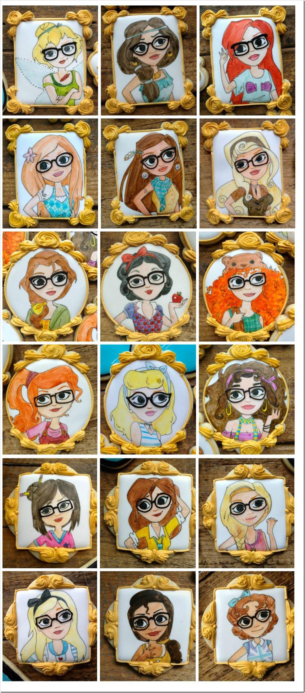 Hipster Disney Princess Cookies