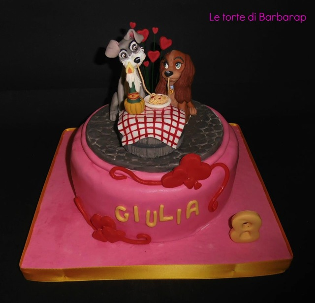 Romantic Lady And The Tramp Wedding Anniversary Cake Between The Pages Blog