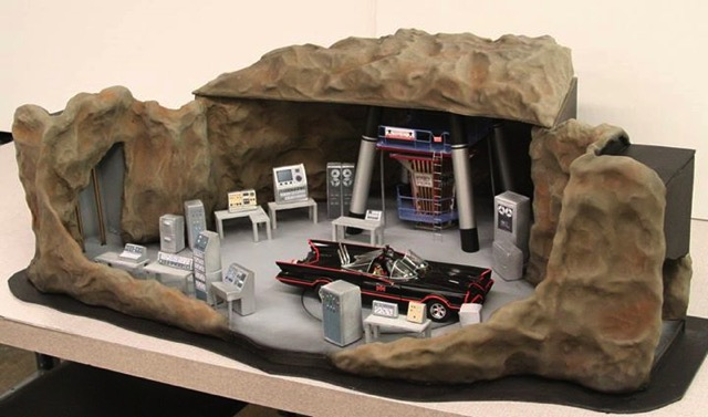 Batcave Cake made by Mike's Amazing Cakes