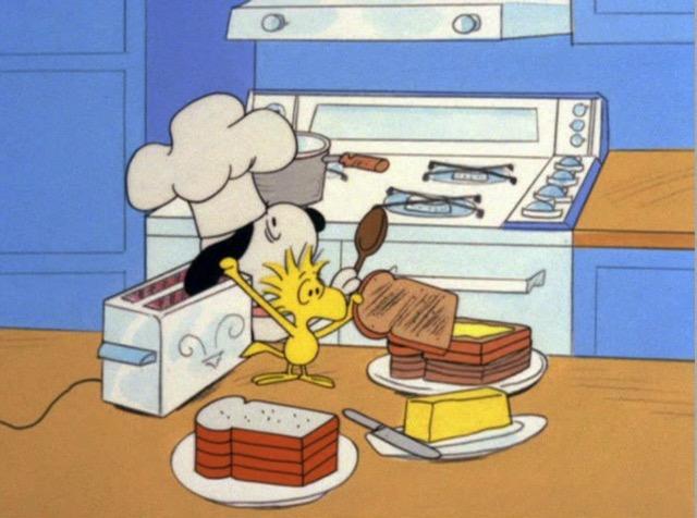 Charlie Brown Thanksgiving scene