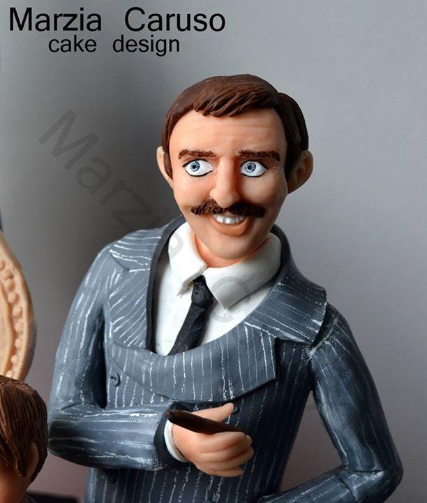 Gomez Addams Cake Topper