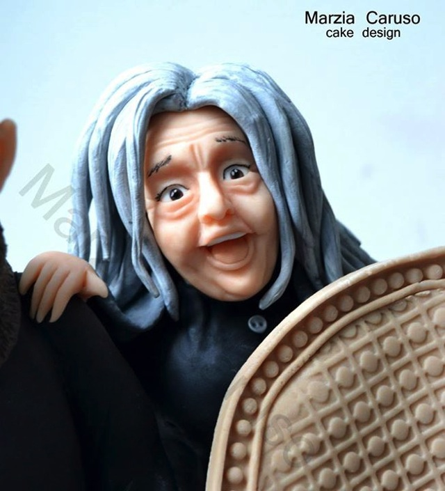 Grandmama Addams Cake Topper