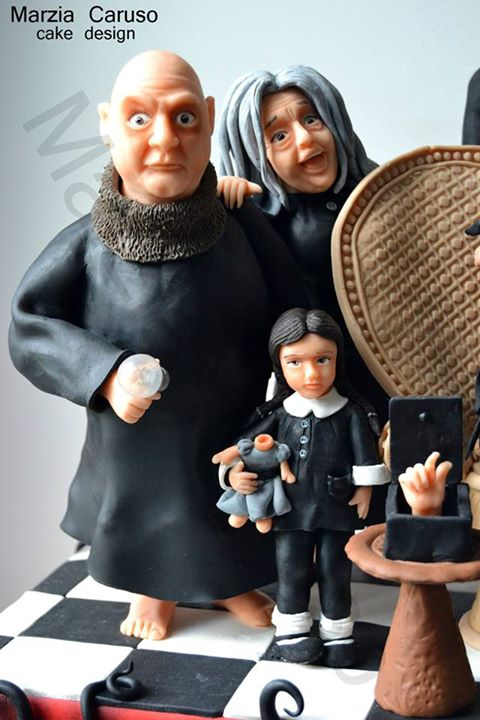 Uncle Fetser Addams Cake Topper