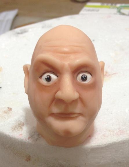 Uncle Fester's head in progress