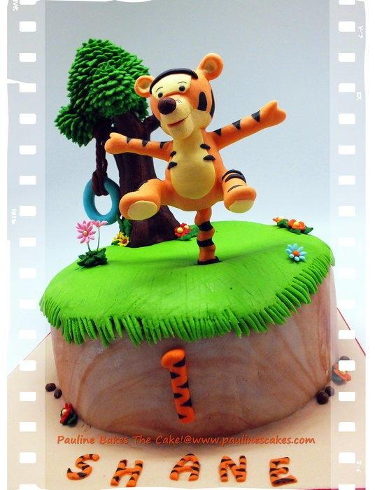 Baby Tigger 1st Birthday Cake