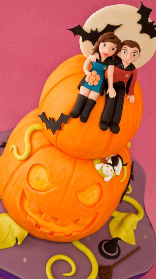 Star Trek Halloween Wedding Cake