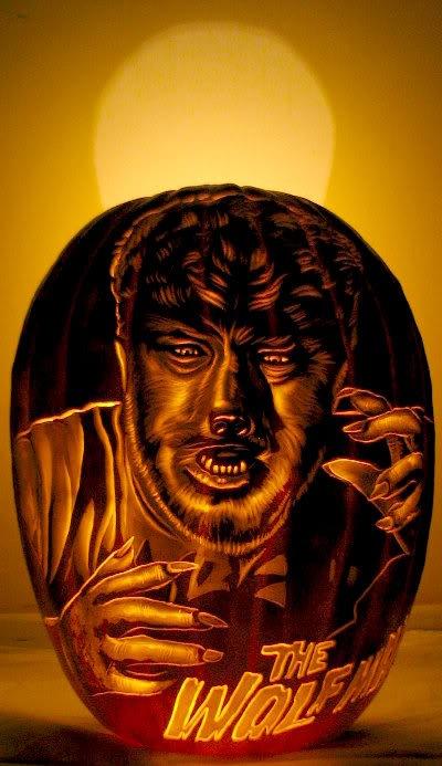 Wolf Man Pumpkin Carving