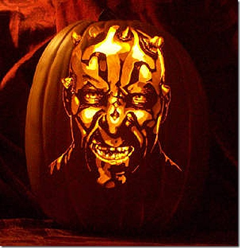 Darth Maul Pumpkin Carving