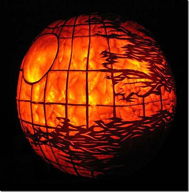 Death Star Pumpkin Carving