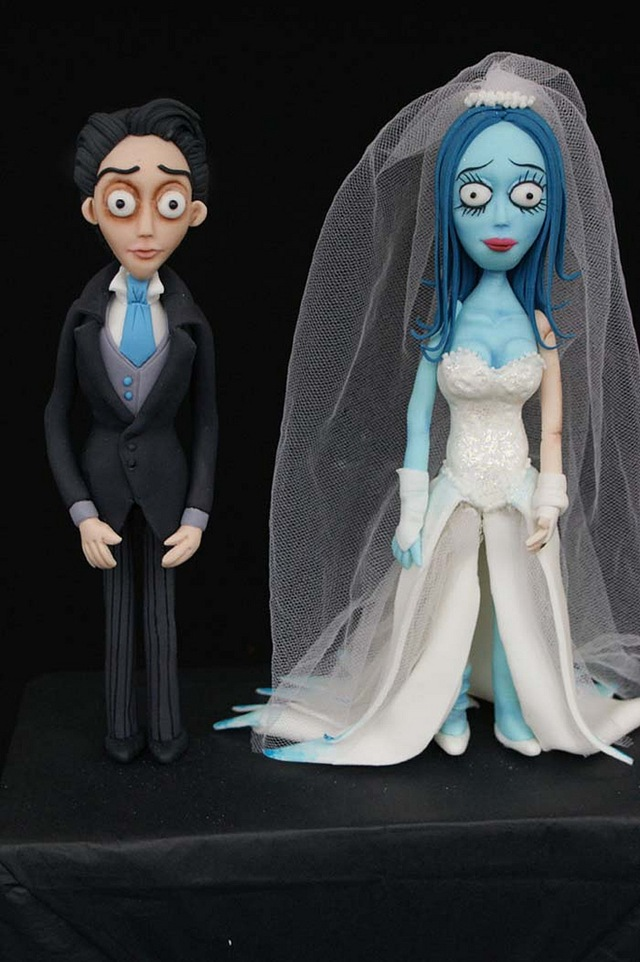 Victor & Corpse Bride Wedding Cake Toppers