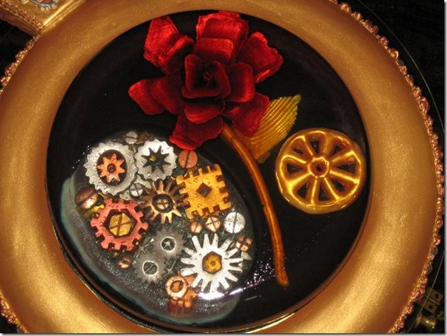 Steampunk Rose Cake