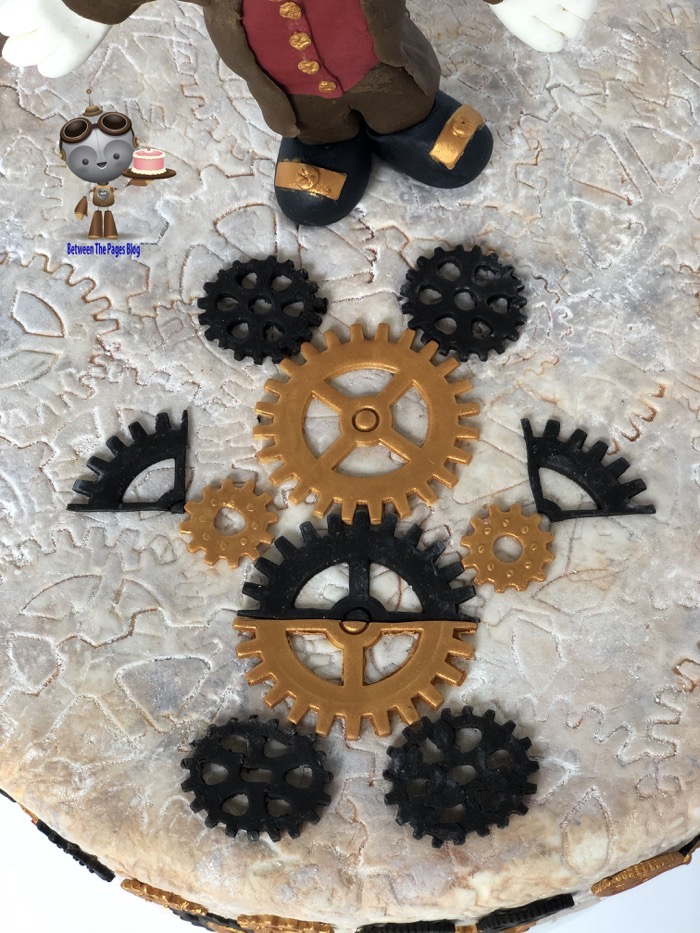 Steampunk Gears Mickey Mouse cake topper