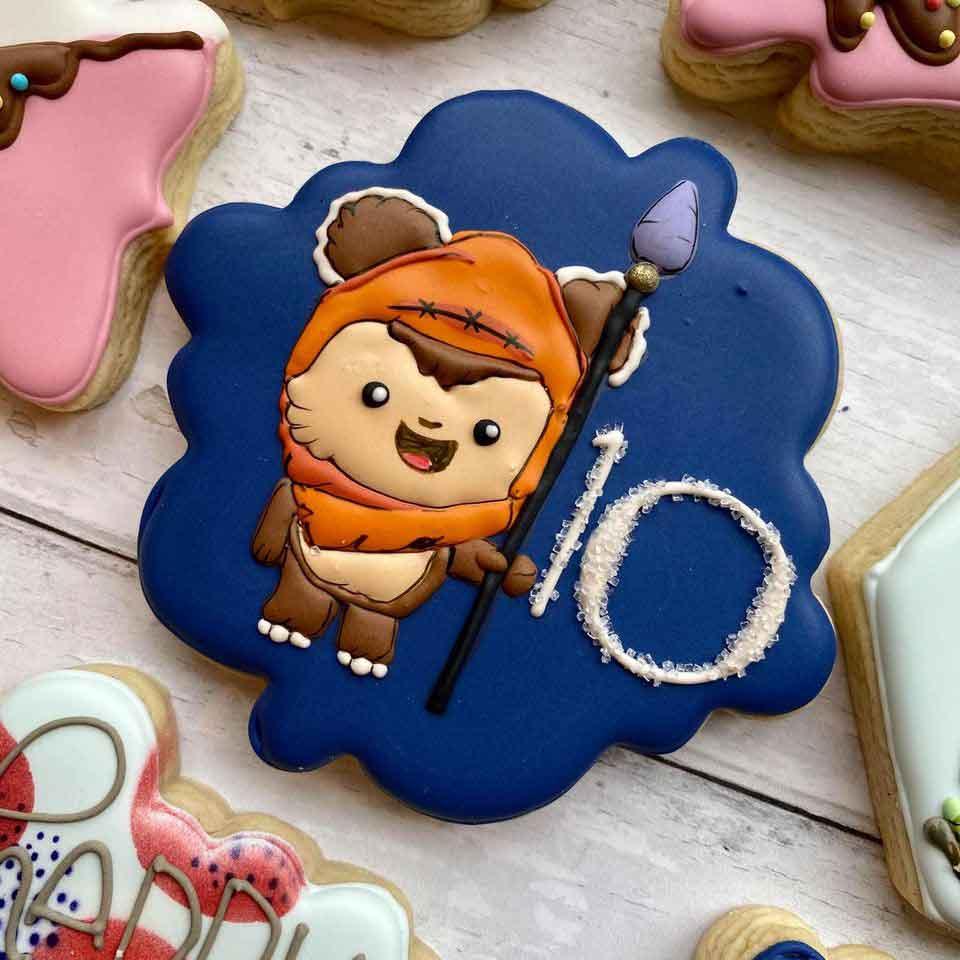 Baby-Ewok-Birthday-Cookie