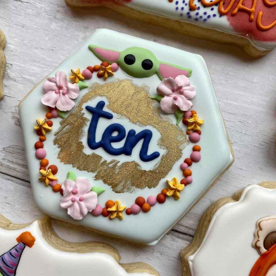 Baby-Yoda-10th-Birthday-Cookies