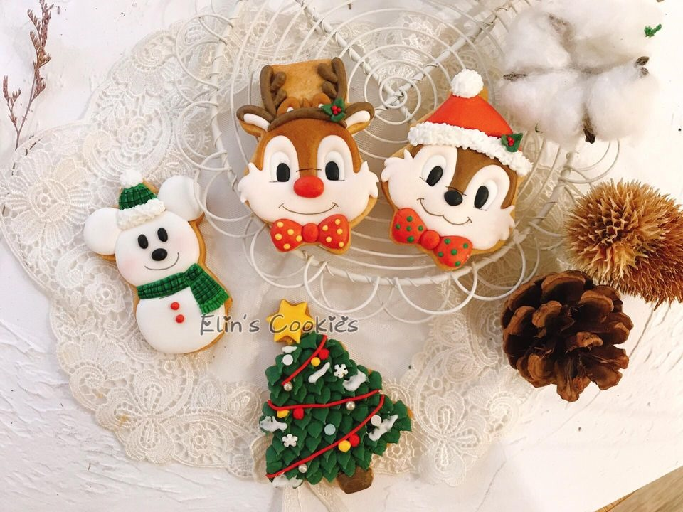 Chip and Dale Christmas Cookies
