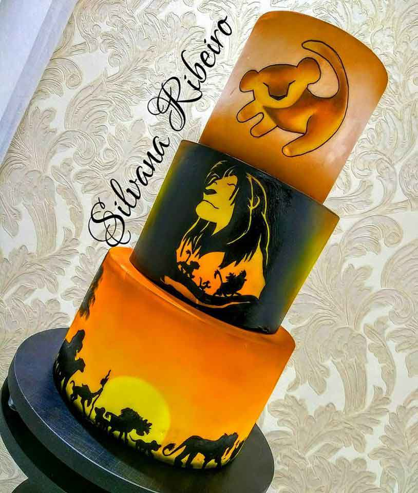 Lion King Cake made by Silvana Ribeiro Cake Designer