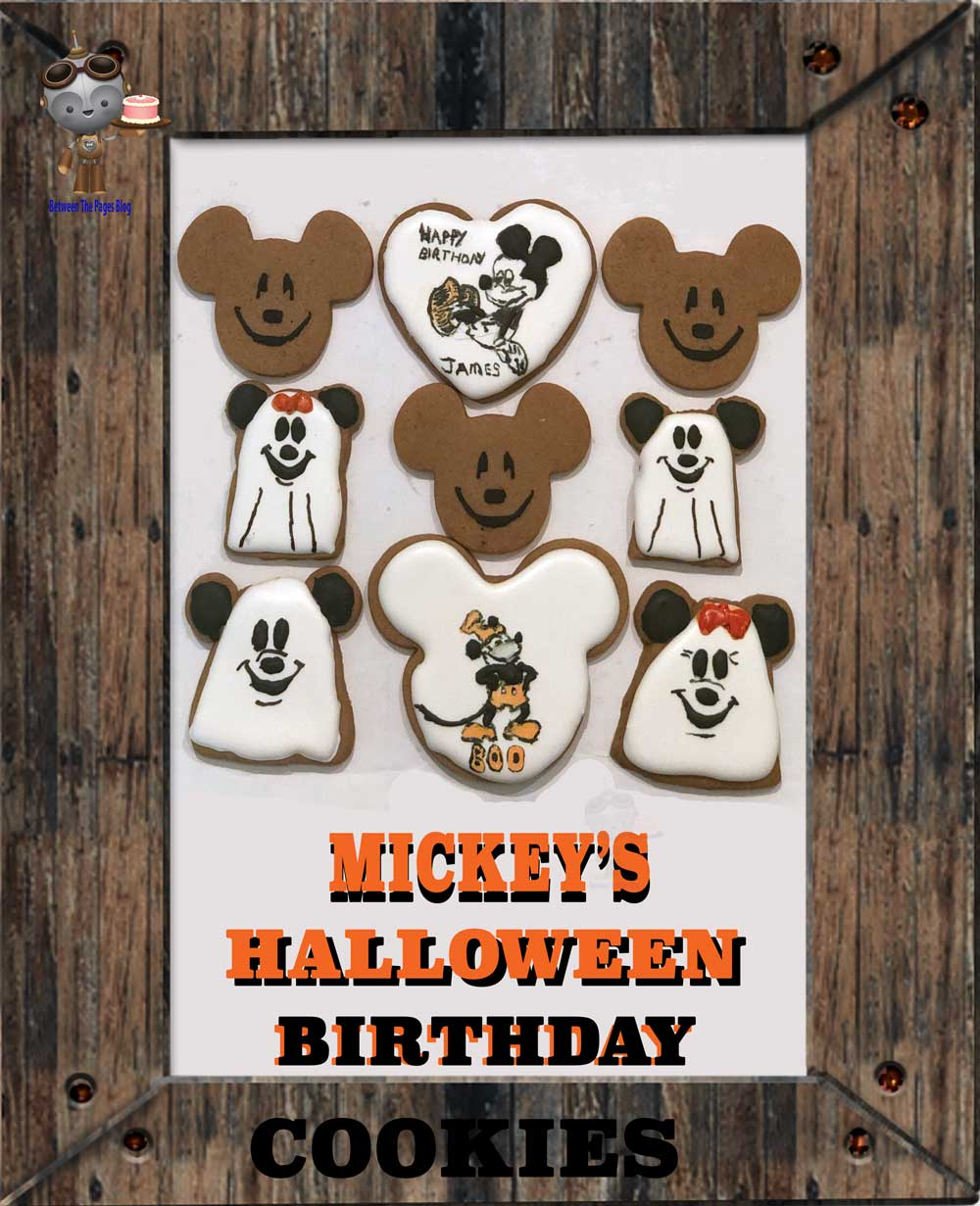 Mickey Mouse Halloween Birthday cookies
