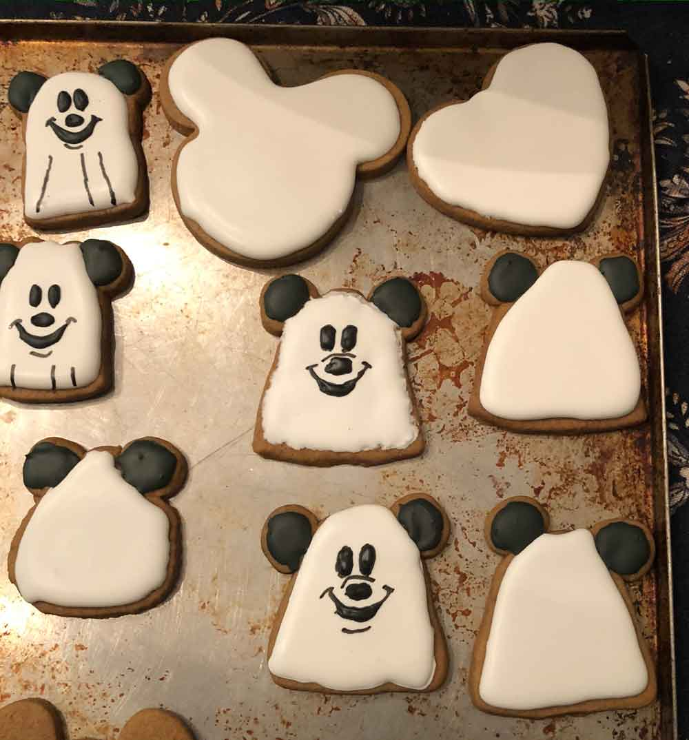 Mickey Halloween Cookies in progress