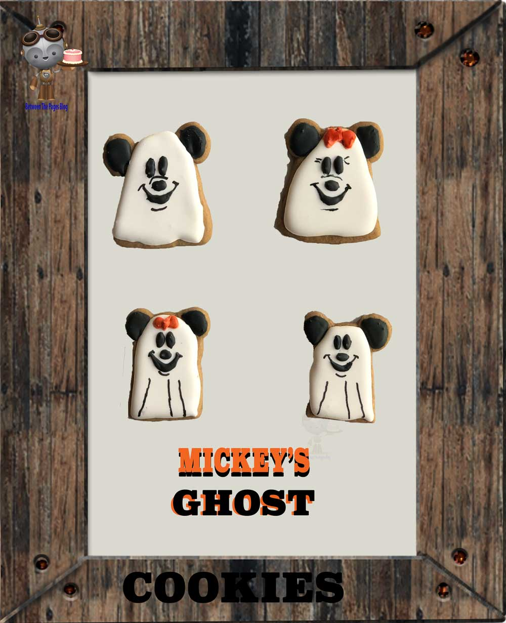 Mickey and Minnie Ghost cookies