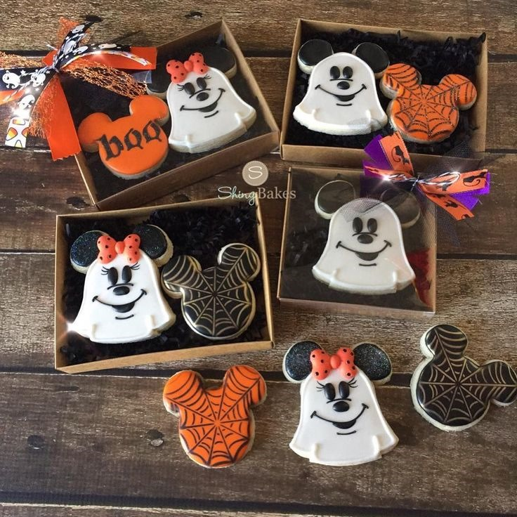 Mickey & Minnie Mouse Halloween Cookies Gift Boxes